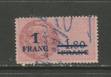 France 1938-45 1 F Ovpt 1.80 F timbre fiscal revenue/fiscal STAMP