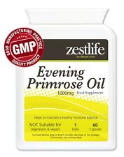 Zestlife Evening Primrose Oil 1000mg 60 soft gels Premenstrual, Menopause, osteo