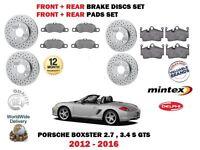 FOR PORSCHE BOXSTER 2.7 3.4 2012-> FRONT + REAR BRAKE DISCS SET + DISC PAD KIT