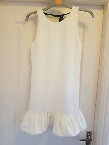 City Goddess Size S (8) White Open Back Dress
