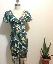 Lisa Ho Banana Leaf Dress With Shoulder Cut Out Sz 2