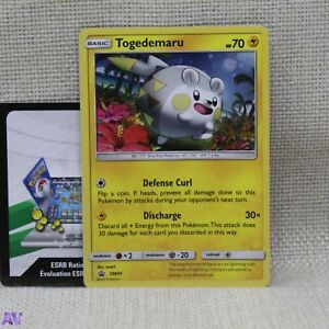 Pokemon TCG Togedemaru 105a/147 Promo + Online Code Trading Card Mint