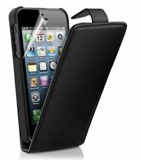 Black Premium PU Estuche Abatible de Cuero para Apple iPhone 4/4S