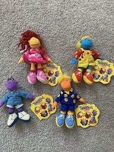 Vintage 1998 Set Of Four Bean Filled Tweenies Plush Toys BNWT