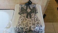 Ann Summers Voyeur Satin Cami Top & Shorts Nightwear Set Size 8 - 10 NWT