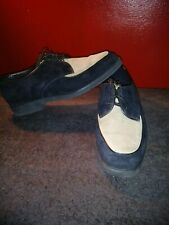 Men's Hush Puppies Size 9 M Black & Tan Suede Two Tone Oxford Shoes NWT