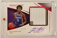 2017-18 Immaculate De'Aaron Fox Rookie Premium Patch Auto Red RPA /15 Kings RC