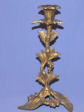Vintage Bronze Ornate Floral Candlestick