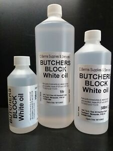 HIGHLY Refined Pure White Mineral Oil  For BUTCHERS CHOPPING BLOCKS
