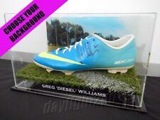 ✺Signed✺ GREG WILLIAMS Football Boot COA Carlton Blues 2018 Guernsey