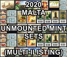 2020 MALTA  Commemorative Sets Unmounted Mint  {Multi-Listing}