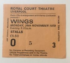 Beatles Paul McCartney Wings 1979 Concert Ticket Liverpool Rare