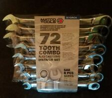 MATCO TOOLS  8 PIECE 72 TOOTH SAE COMBINATION RATCHETING WRENCH SET (S7GRC8)