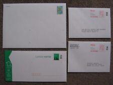 4 Enveloppes préaffranchies: PAP POSTREPONSE, DESTINEO 50g, Lettre verte, NEUVES