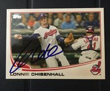 LONNIE CHISENHALL 2013 TOPPS AUTOGRAPHED SIGNED AUTO BASEBALL CARD 341 INDIANS