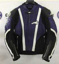 Alpinestars Blue SMX AIR FLO Leather Motorcycle Jacket EU 50 UK 40