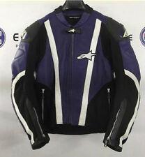 Alpinestars Blue SMX AIR FLO Leather Motorcycle Jacket EU 50 UK 40