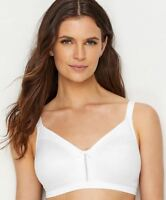 BALI COOL COMFORT DOUBLE SUPPORT WIRE-FREE BRA, WHITE, 34DDD