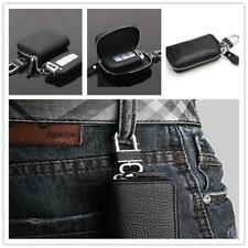 Business Men Leather Car Keychain Key Holder Bag Black Zipper Case Remote NEW LC