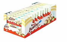 KINDER BUENO WHITE 2 BAR 30 PACKETS 43g x 30 Packets (Full Box)