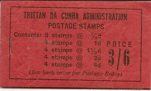 TRISTAN DA CUNHA 1958 3/6 BLACK ON RED BOOKLET SB2