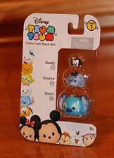 Disney TSUM TSUM Goofy-Eeyore-Stitch Stack'em Stacking Figure Series 1 3 Pack