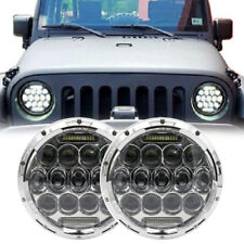 2X 7inch Round LED Headlight white DRL For Jeep Wrangler JK TJ Harley Kenworth