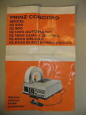 Instructions slide projector PRINZ CONCORD IQ 800 900 1400 1800 2000   CD/EMail
