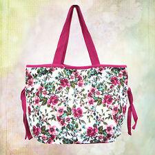 Strandtasche Badetasche Sommer Shopper Baumwollshopper Trendiges Blumenmuster