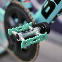 Bianchi original Bicycle Pedal pair Celeste MTB/Road Cross Bike/ Flat Pedal NEW