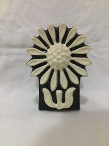 Crystal Craft Black And White Daisy Napkin Or Letter Holder