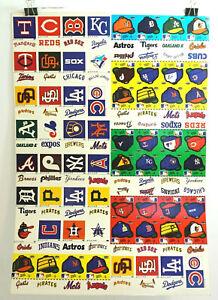 "VINTAGE 1982 FLEER BASEBALL UNCUT STICKER SHEET 20"" X 28.5"" SET"