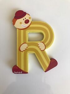 """Janod Letter """"R"""" Pre-owned / Color Yellow/ US Seller /FAST SHIPPING!"""