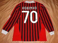 RARE AC MILAN #70 ROBINHO HOME shirt FOOTBALL  ADIDAS 2011 2012 M LONG 11
