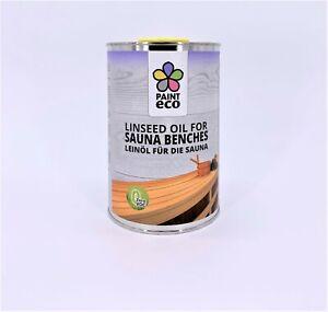 PAINT eco, Leinöl-Firnis für die Sauna 1 Liter, ohne chemische Zusätze.