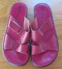 CHRIS ROVELLA   size  8  (41)   Crimson Pr. Of soft Leather Sandals