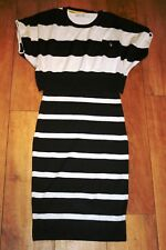 KAREN MILLEN Knitted dress & jumper SIZE S 8 bodycon pencil wool GREAT CONDITION