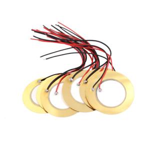 10Pcs 35mm Piezo Elements buzzer Sounder Sensor Trigger Drum Disc+ wire copper