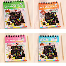 Scratch Art Painting Book Set Colorful Educational Toys Sent In Random Color