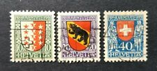 Switzerland 1921 PRO JUVENTUTE SGJ17 ,18, 19 Used