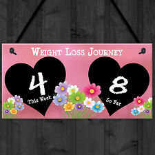 Weight Loss Tracker Chalkboard Journey Gift Hanging Plaque Slimming World Sign