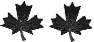 Lot of 2 Black Silver Couture Leaf Leaves embroidery