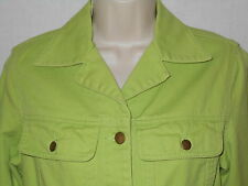 Denim Jean Jacket 6T MEDIUM Womens Lime Green Coat Chadwicks 6d9