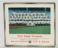 1953 New York Yankees Ballantine Beer Team Photo Display on Masonite Board,