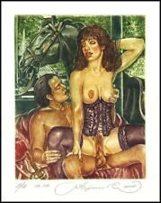 Kirnitskiy Sergey 2001 Exlibris C4 Erotic Erotik Nude Nudo Pferd Horse 30A