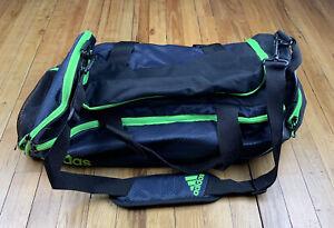 Adidas Climaproof Green Waterproof Duffle Bag Gym Fresh Pak Large