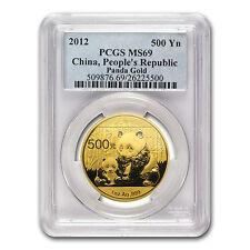 2012 China 1 oz Gold Panda MS-69 PCGS - SKU #78136