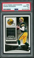 Aaron Rodgers Green Bay Packers 2015 Panini Contenders Football Card #66 PSA 10
