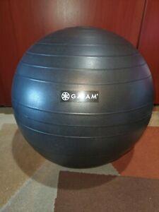 Gaiam Ultimate Balance Ball Chair Exercise Yoga Ergonomic Chair Black