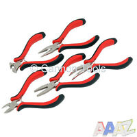 5PC Mini Craft Pliers Set Side Snips, End Cutters, Bent, Long & Flat Nose